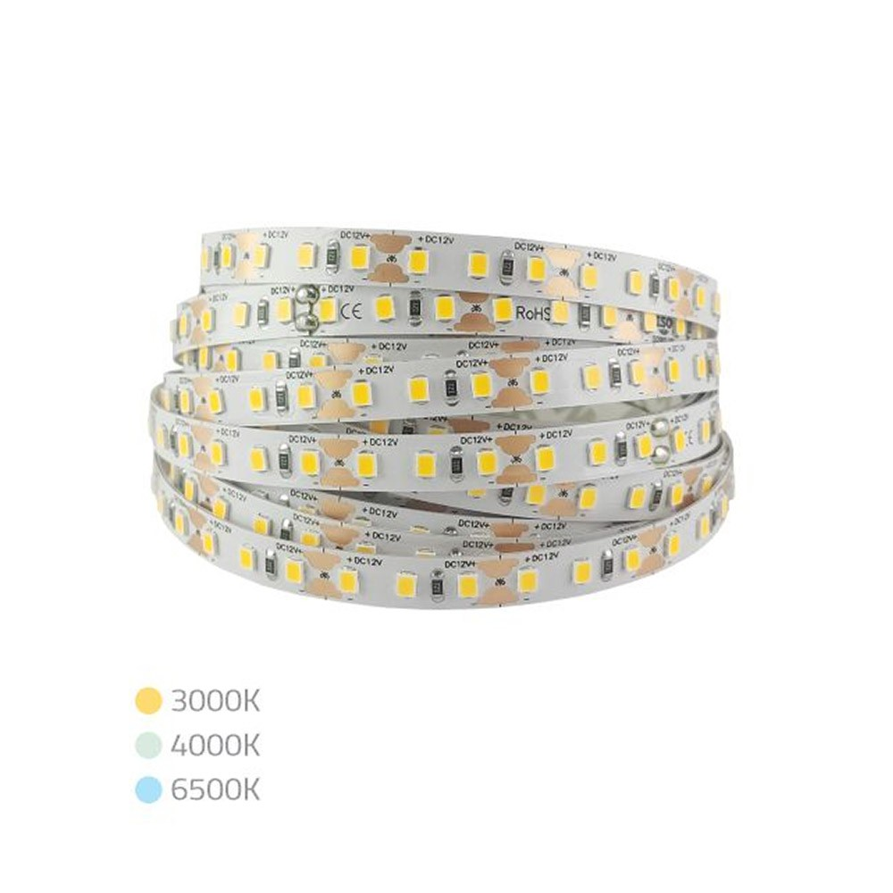 Fita LED Branco Fria 12V IP20 6500K 120 LEDs/m 16W MAKLED