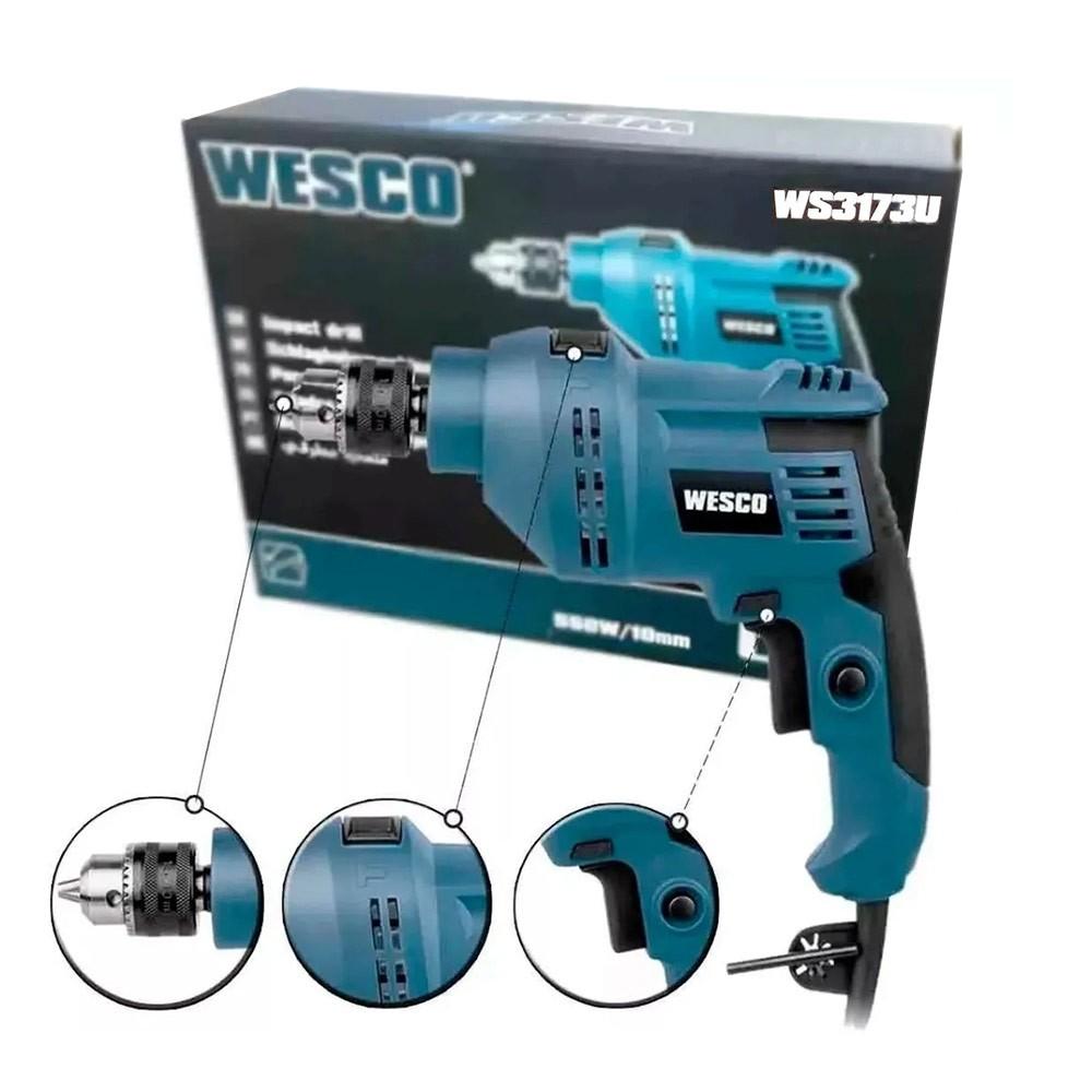 Furadeira de Impacto 10MM 550W 3/8 Polegadas WS3173U Wesco