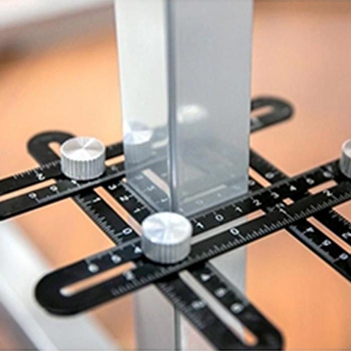Gabarito Esquadro Articulado Régua Ajustável 6 Seções CHARBS