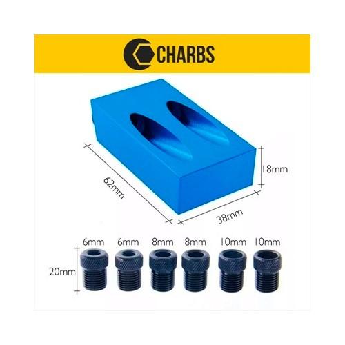 Gabarito para Furos Chanfrados 6 a 10mm Pocket Hole Jig