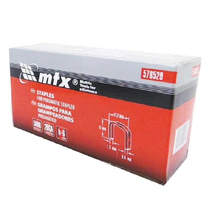 Grampos 6mm Para Grampeador Pneumático 576529 MTX