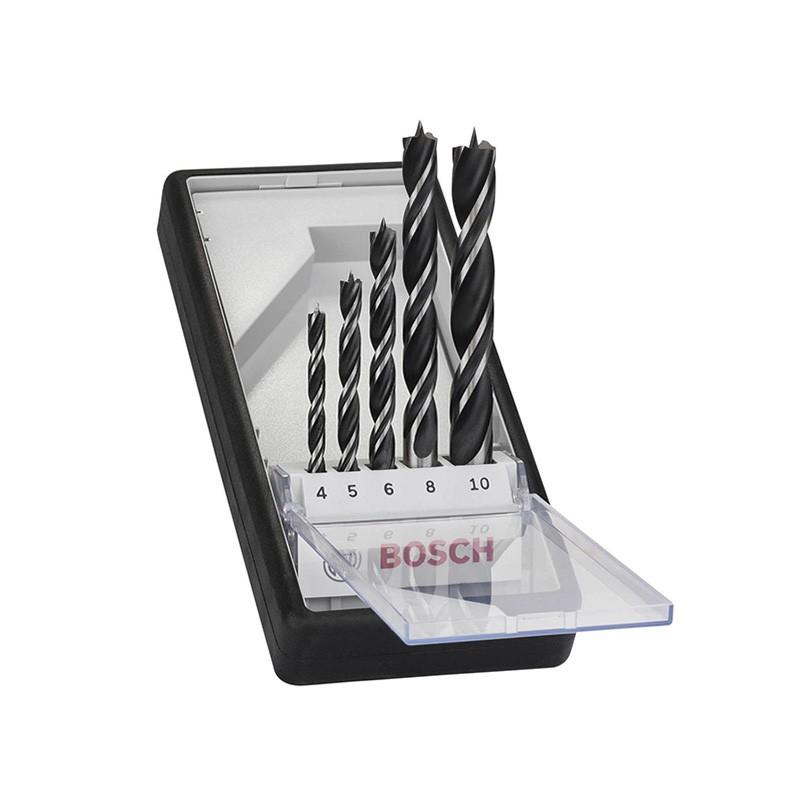 Jogo de Brocas 4.0 a 10.0mm Madeira Robust Line 5 Pças Bosch