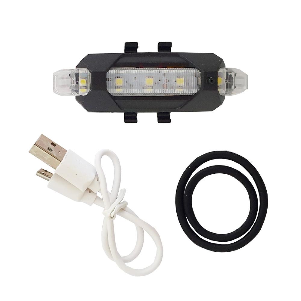 Kit 02 Sinalizador Lanterna LED para Bicicleta Bike Charbs