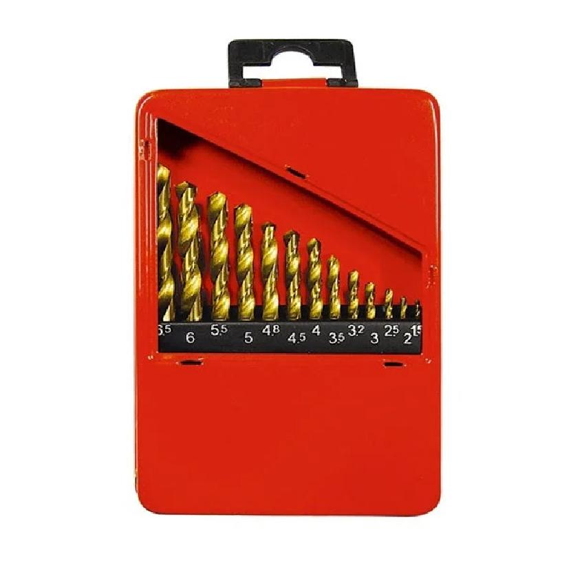 Kit Brocas Aço Rápido 1,5-6,5mm Titânio 13 Peças 723869- MTX