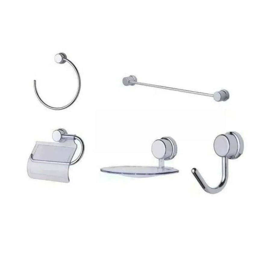 Kit de Acessórios para Banheiro ABS com 5 Peças 13353 Rayco