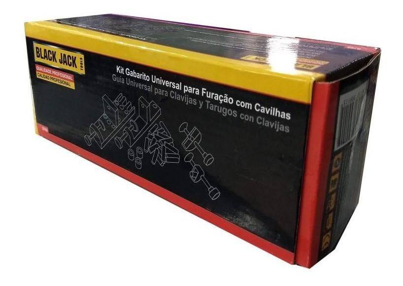 Kit Gabarito Universal Furação com 60 Cavilhas B768 Black Jack