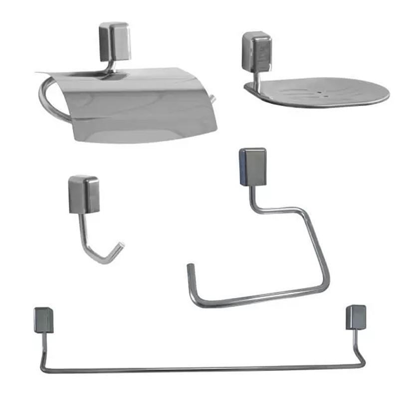Kit Para Banheiro Città 5 Peças - Steel Design