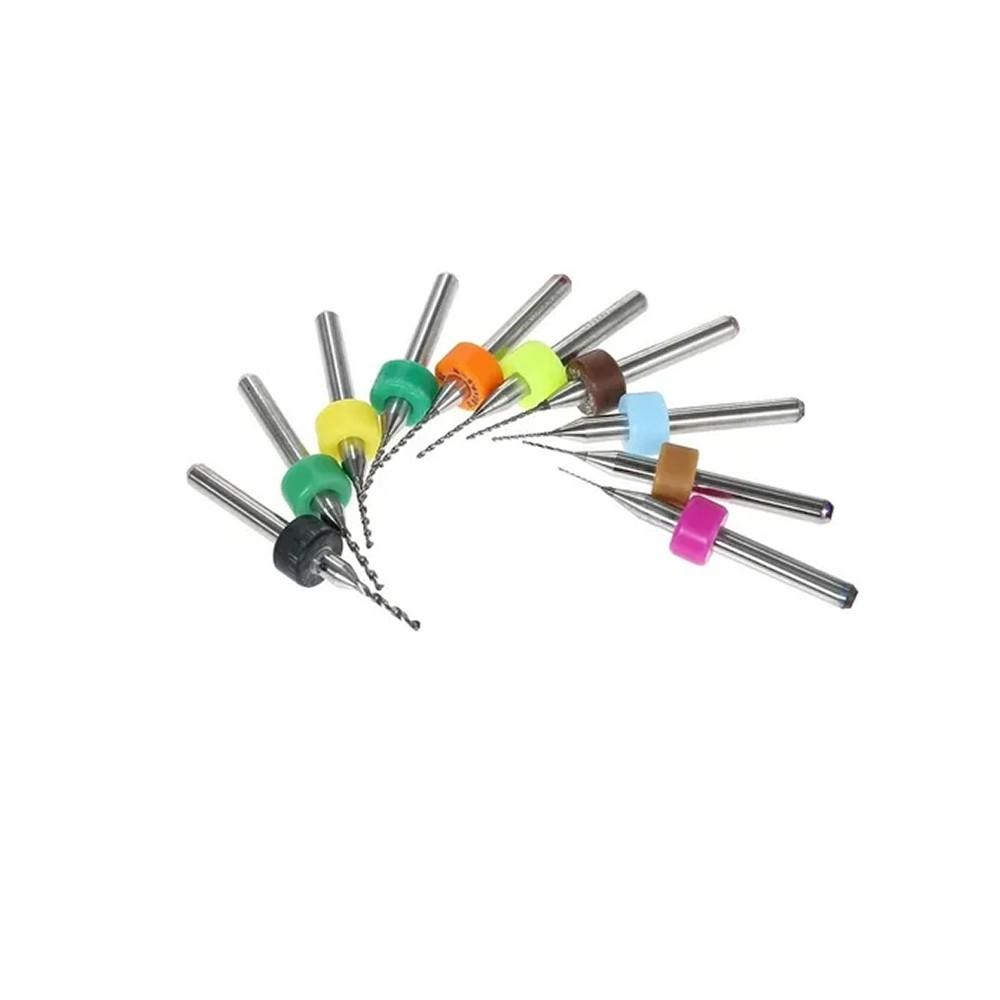 Kit Serras 10 Brocas Para Micro Retifica Haste 1/8 Charbs