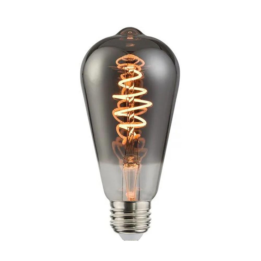 Lâmpada Bulbo Filamento Black Twist p/Luminária ST64 MAKLED