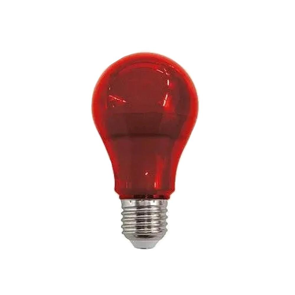 Lâmpada Bulbo Luz Vermelha E27 10W Bivolt LM210 Luminatti