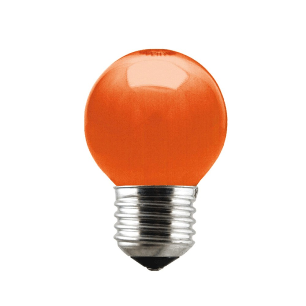 Lâmpada de LED Bolinha Laranja E27 6W Bivolt LM282 Luminatti