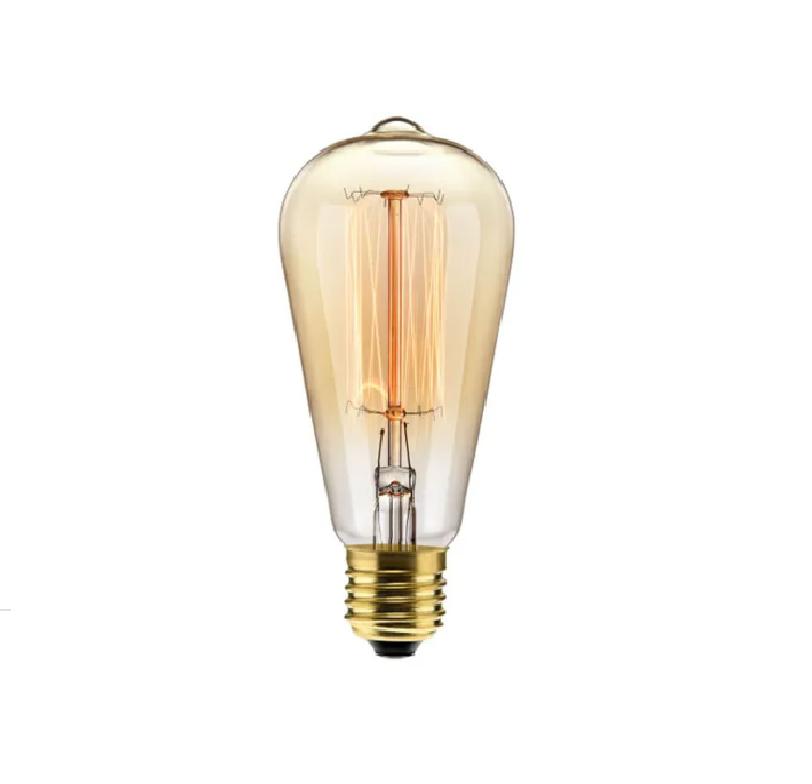 Lâmpada Filamento Carbono ST64 40W 220V Luz Amarela Galaxy