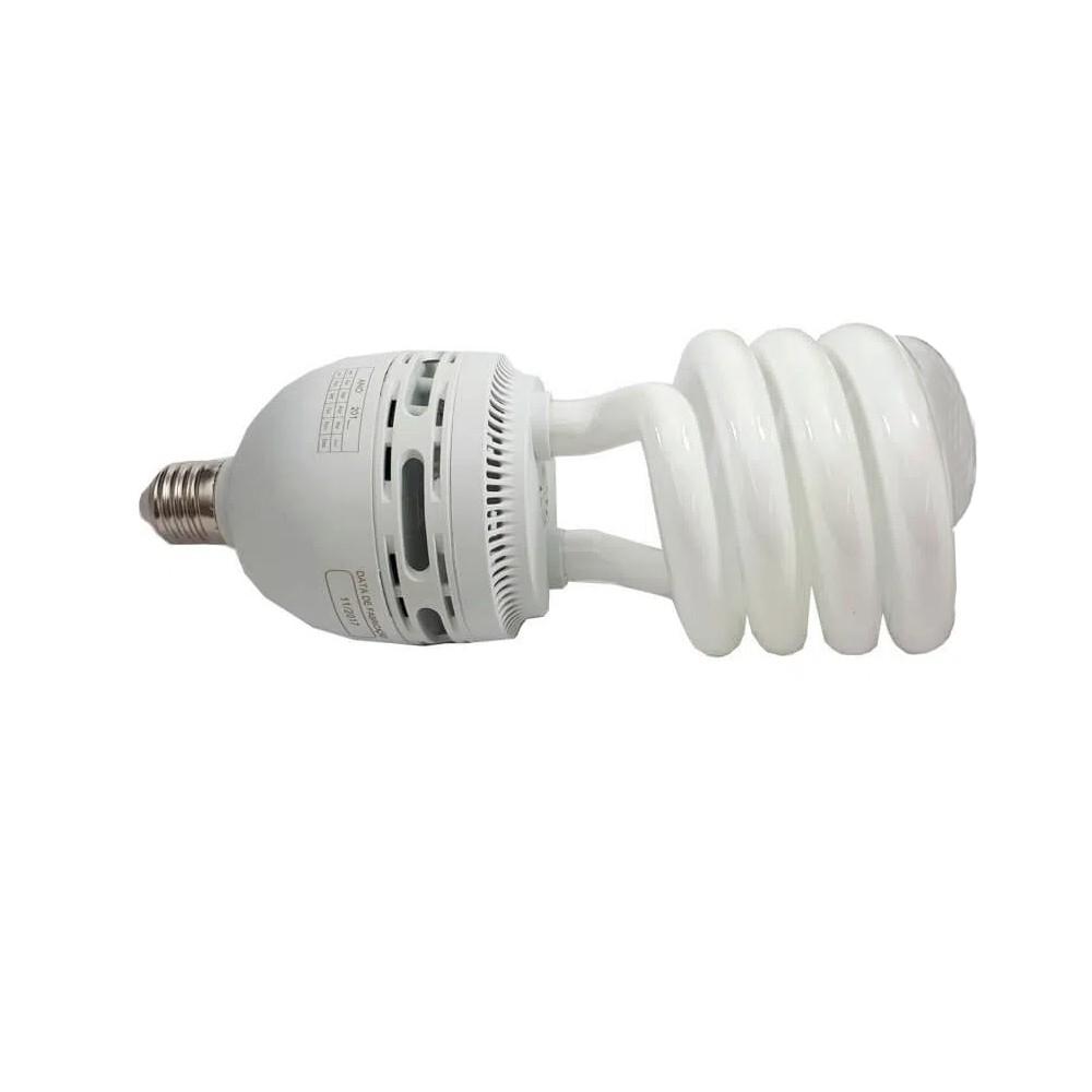 Lâmpada Fluorescente Espiral Branca Fria E27 6.400K OuroLux