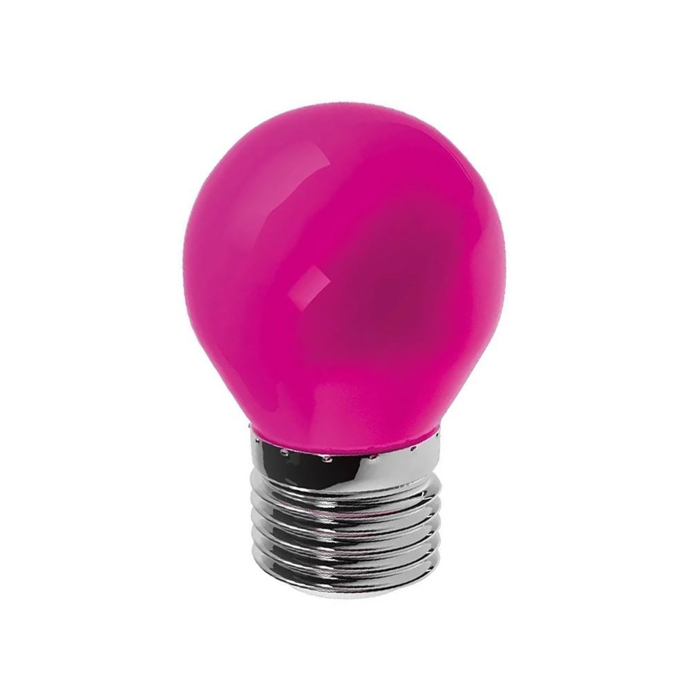 Lâmpada LED Bolinha Rosa G45 E27 6W Bivolt LM754 Luminatti
