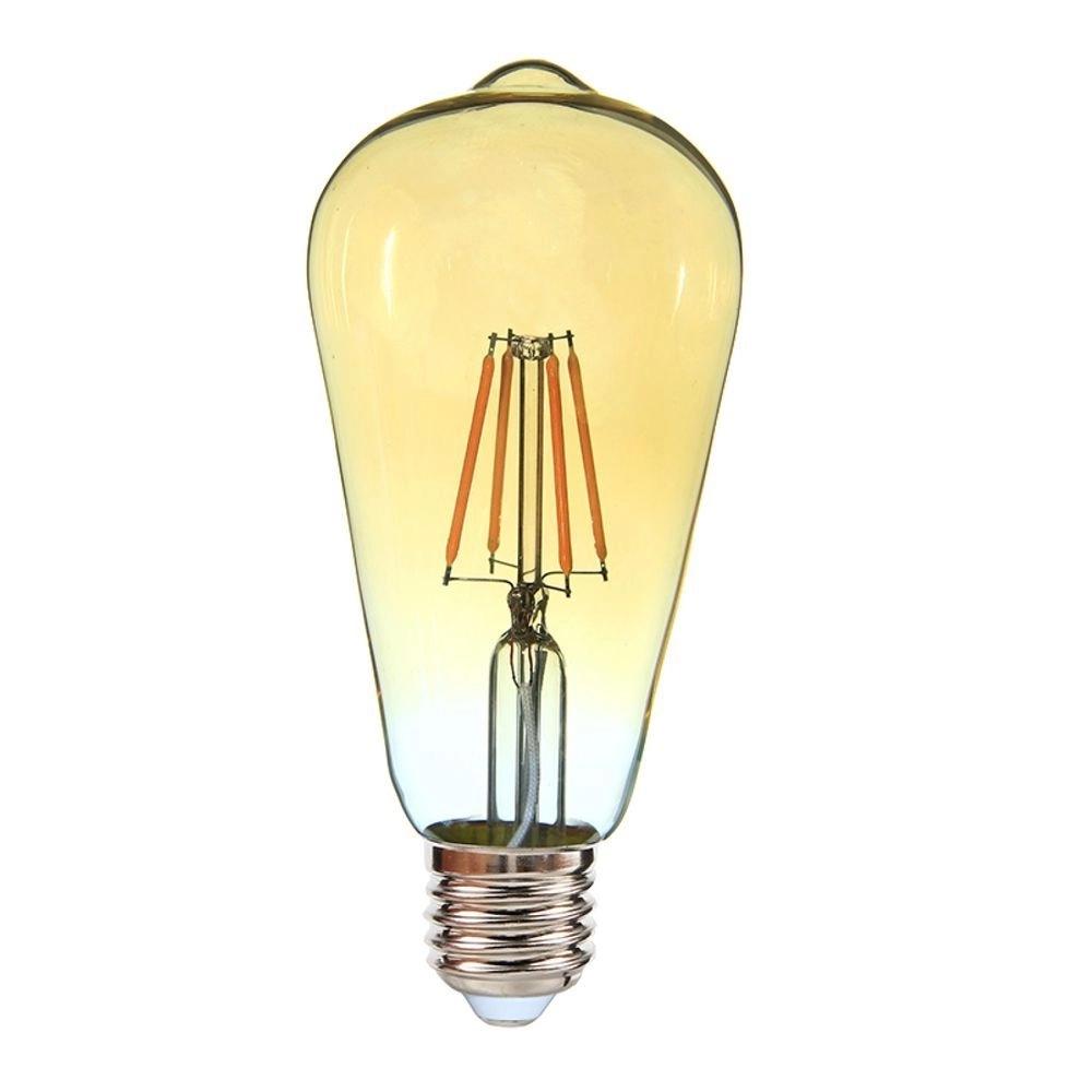Lâmpada Led Filamento 4W ST64 Pera E27 Vintage Ourolux