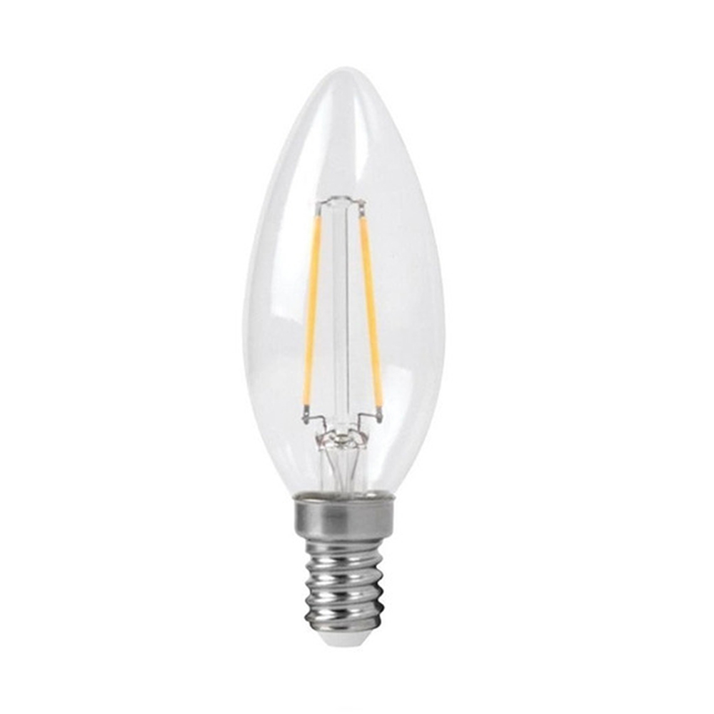 Lâmpada LED Filamento Âmbar Vela Balão E-14 4W 2200K Embuled