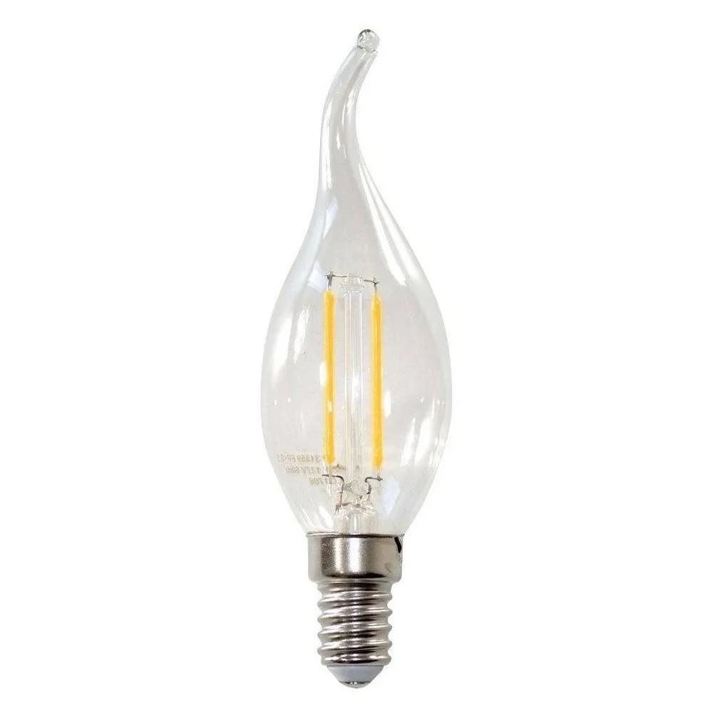 Lâmpada LED Filamento Âmbar Vela Chama E14 2W 60747 Embuled
