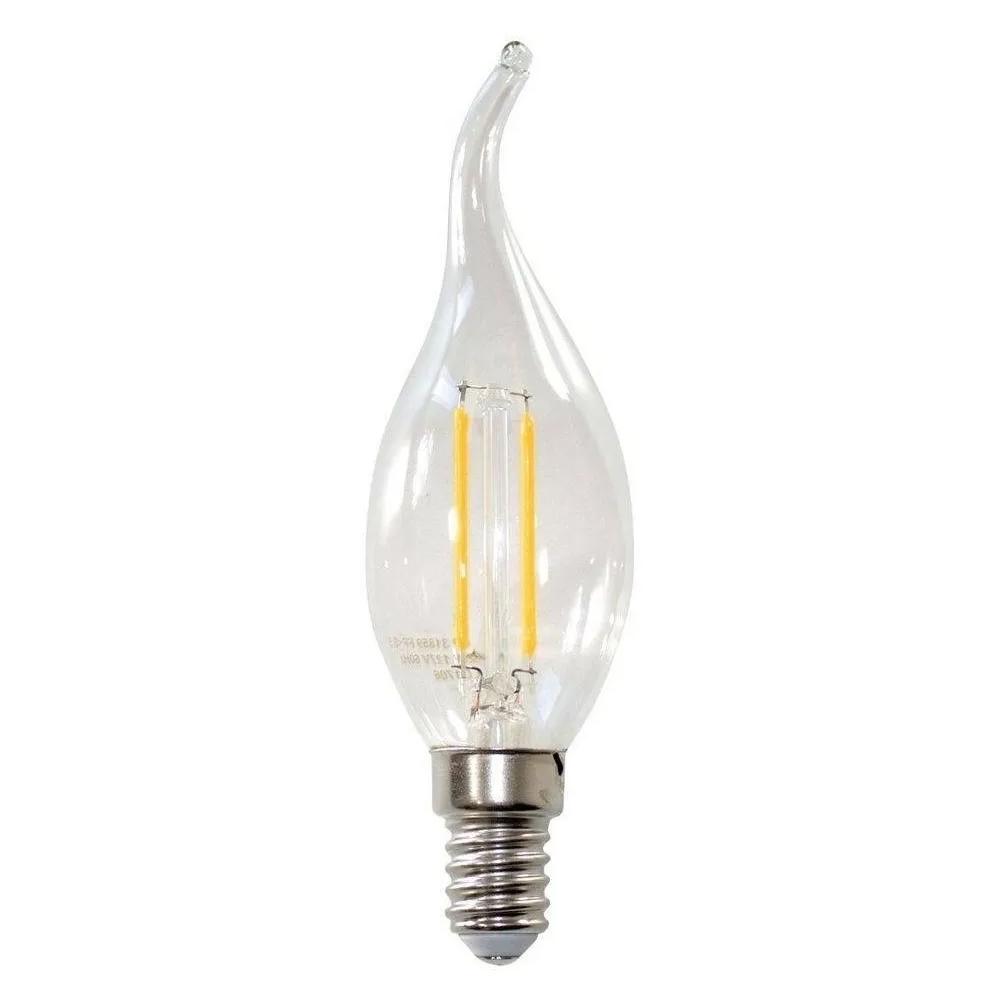 Lâmpada LED Filamento Âmbar Vela Chama E-14 4W 2200K Embuled