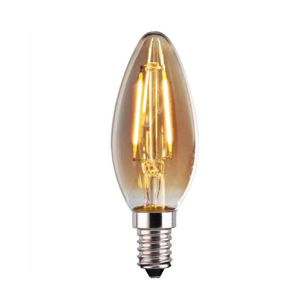 Lâmpada Led Filamento Carbono 4W C35 Vela E14 Retrô