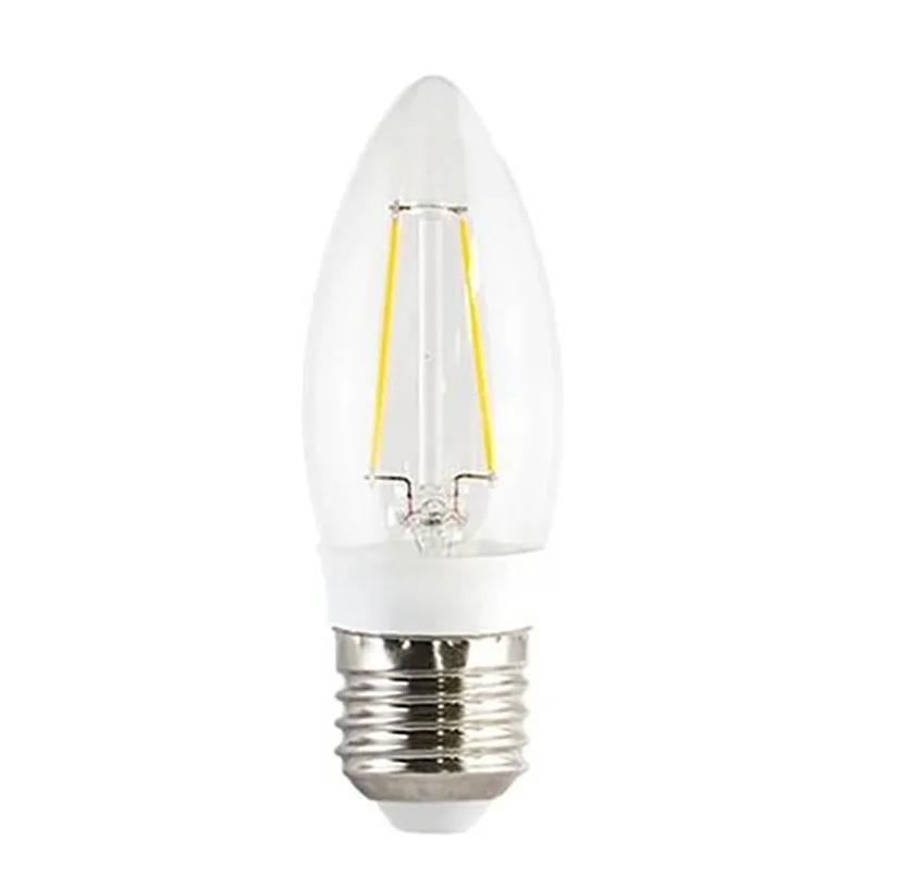 Lâmpada Led Filamento Vela Clara 3W E27 Luz Quente Ourolux