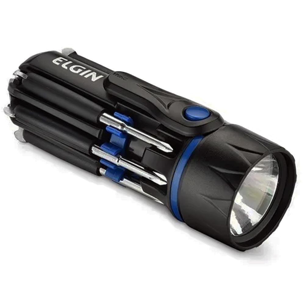Lanterna LED Versátil 8 em 1 com Chaves Integradas Elgin