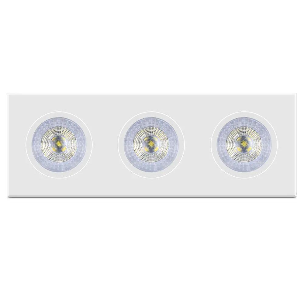 Luminária de Embutir Ecospot Triplo Bivolt 15W 6500k Elgin
