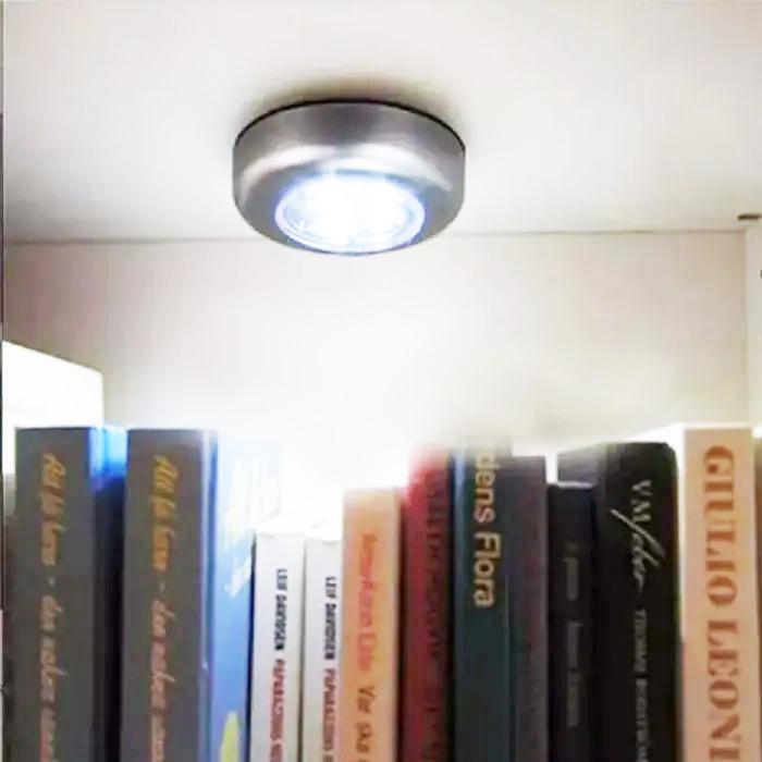 Luminária de Toque à Pilha para Cantos 3 LEDS 9DN Excellent