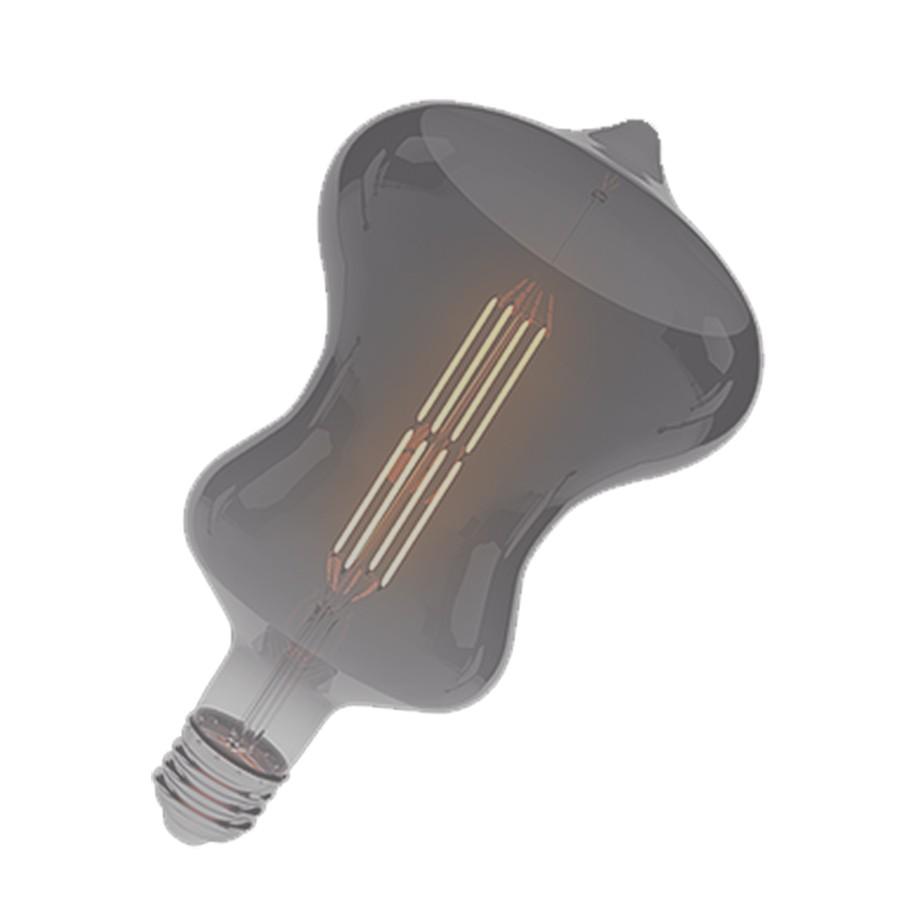 Luz LED Spin Filamento Âmbar Corpo Fumê 8W LM1089 Luminatti