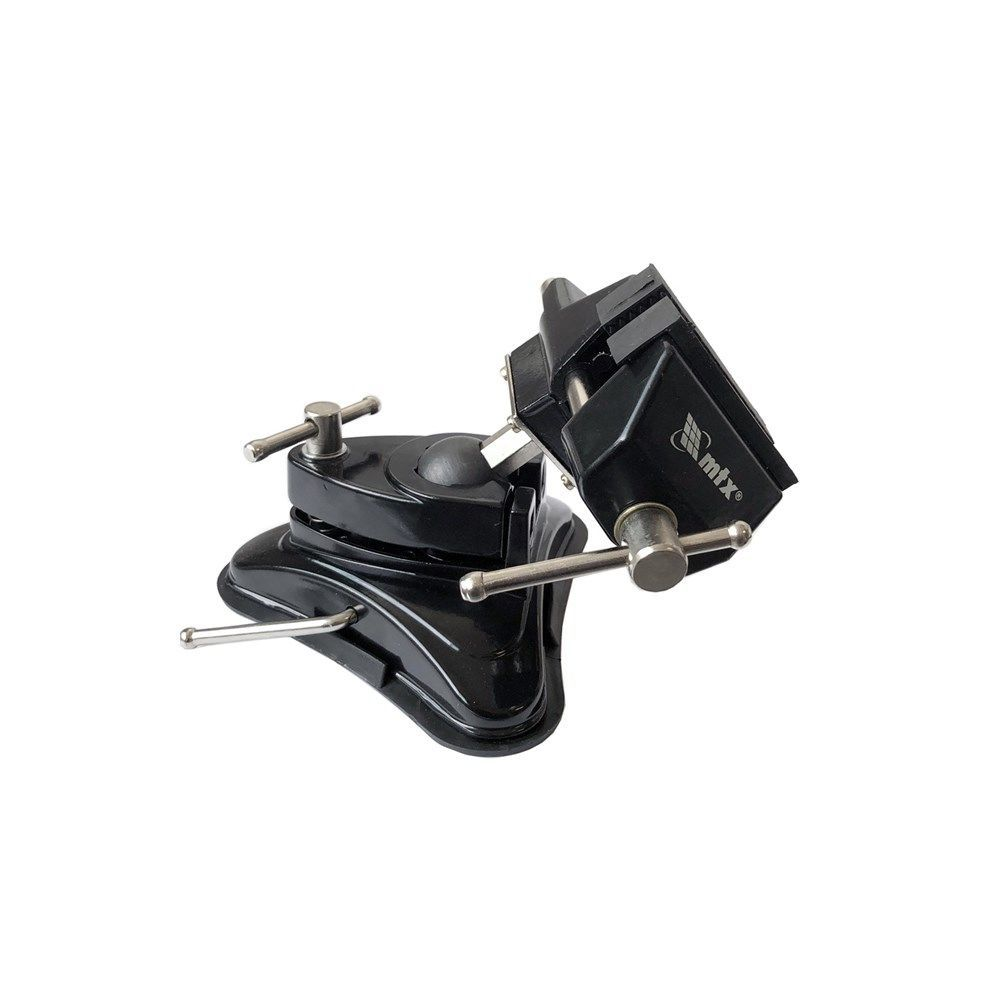 Mini Torno de Bancada / Morsa Multiuso Giratório com Base De Ventosa 70MM MTX