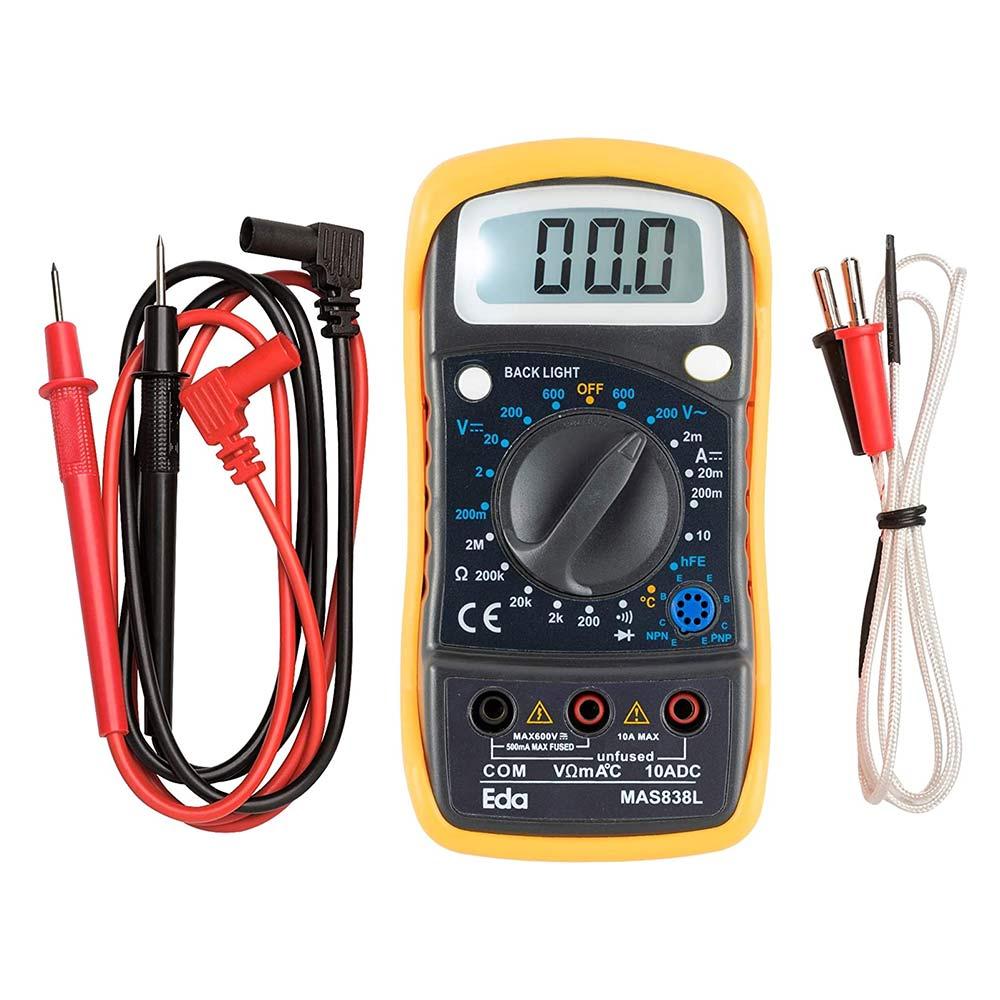 Multímetro Digital Portátil c/ Sensor de Temperatura 9KD Eda
