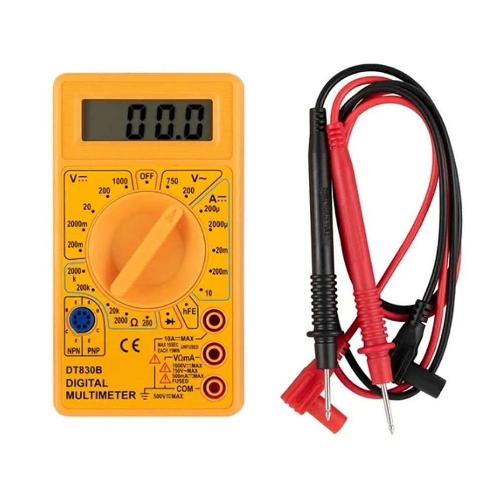 Multímetro Digital Portátil Medidor de Voltagem 8PJ Eda