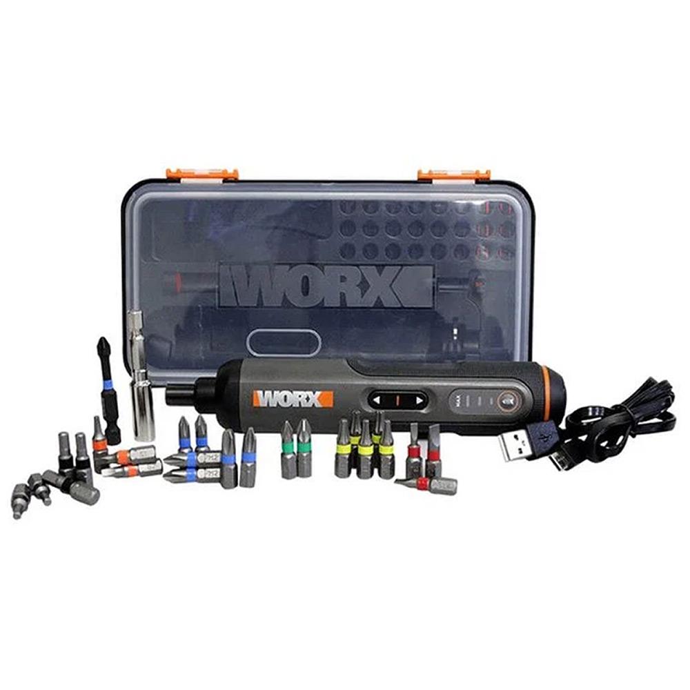 Parafusadeira a Bateria 4V Screwdriver Pen + Bits WX240 WORX
