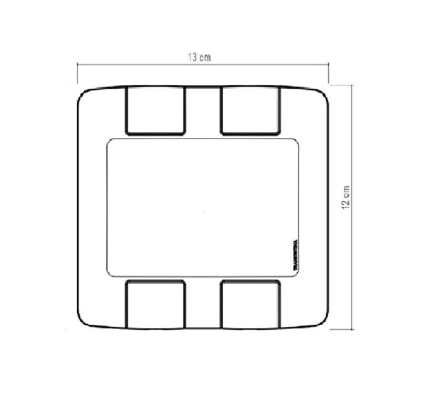 Placa 2 Postos 4x4 Aria Branca 57203023 - Tramontina
