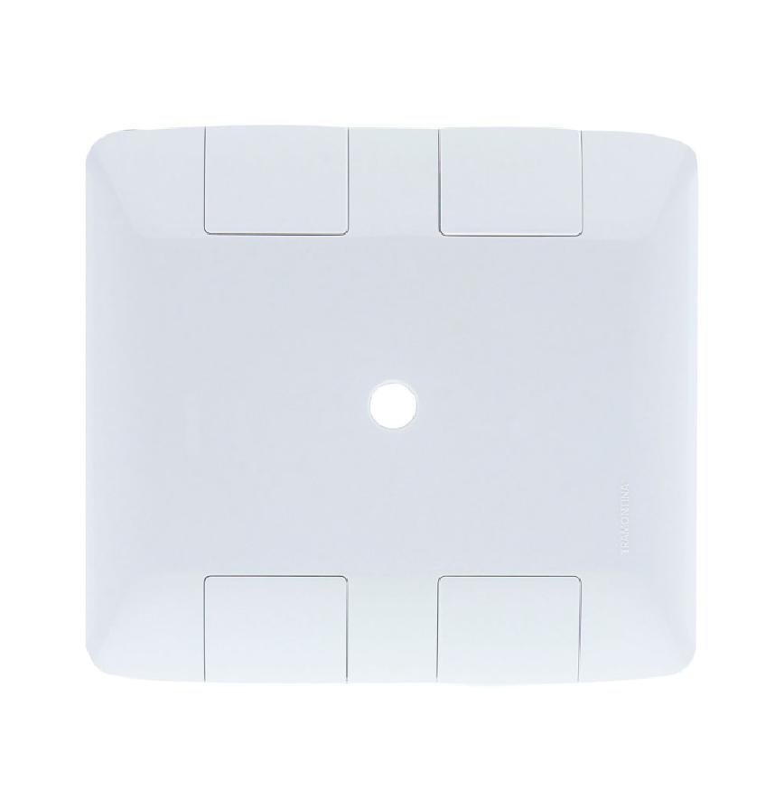 Placa 4X4 1 Furo 9,5mm Aria Branca 57203022 - Tramontina