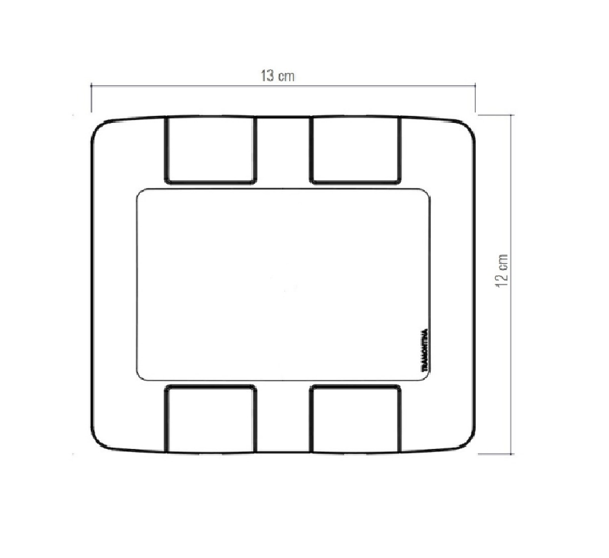 Placa 6 Postos 4x4 Aria Branca 57203031 - Tramontina