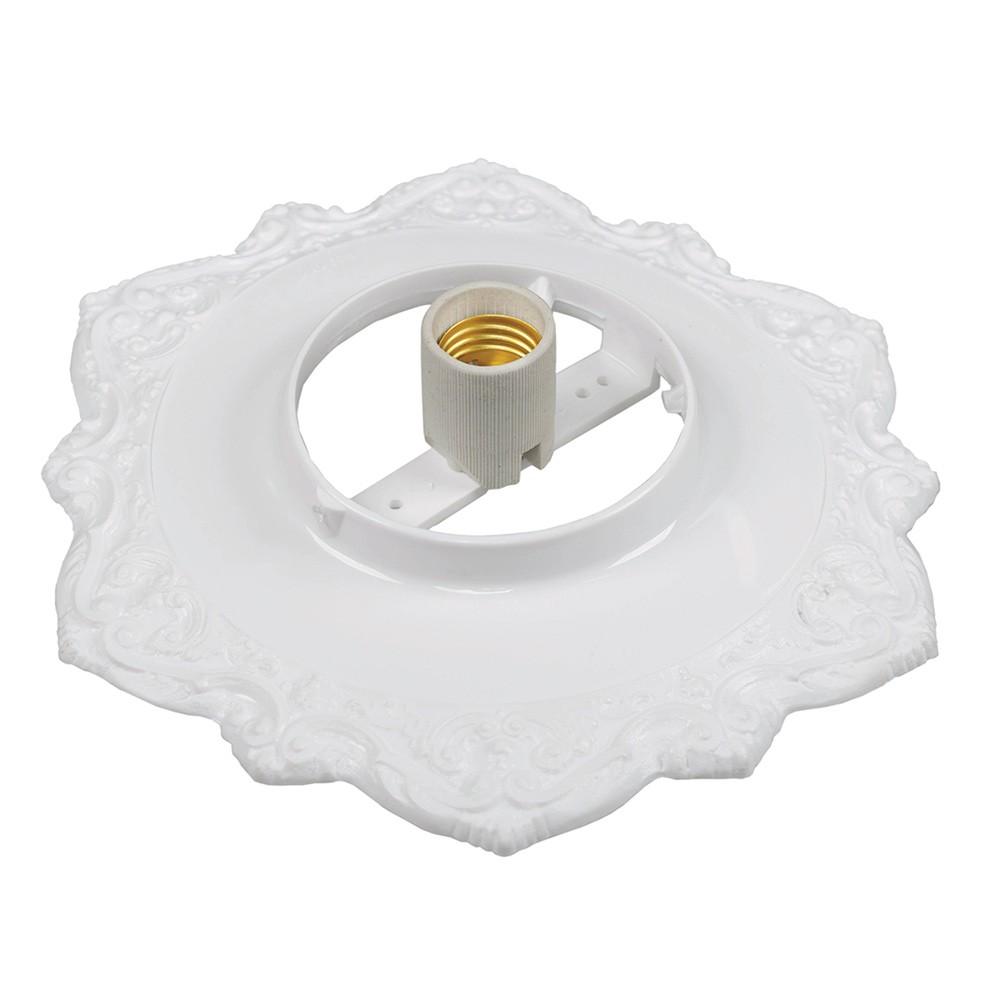 Plafon BV para Sobrepor com Soquete em Porcelana Pavilonis