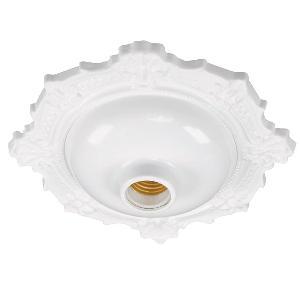 Plafon BVC Fixo em Porcelana Sobrepor Pavilonis