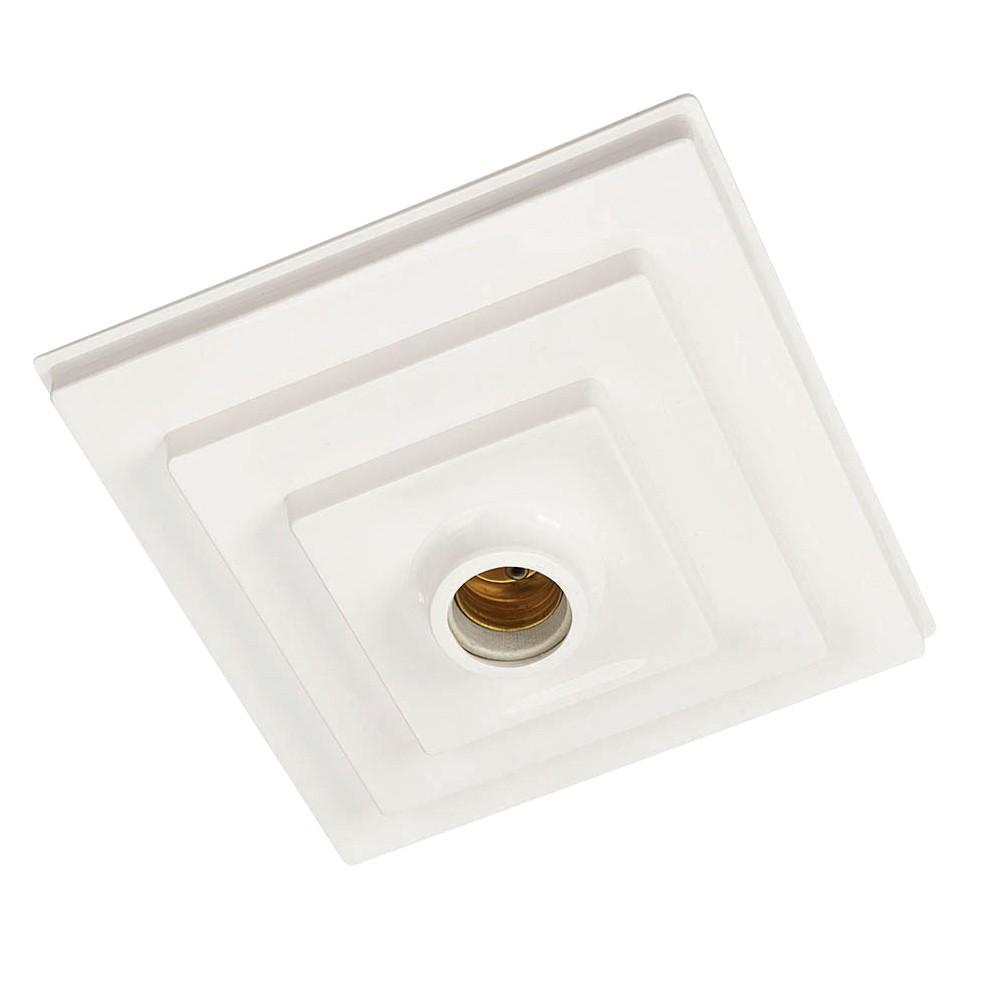 Plafon PQ Quadrado Branco para Sobrepor ou Embutir Pavilonis