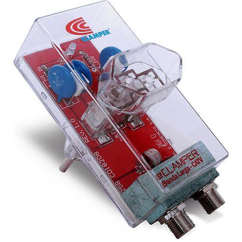 Protetor Contra Raios Energia + Cabo TV Clamper