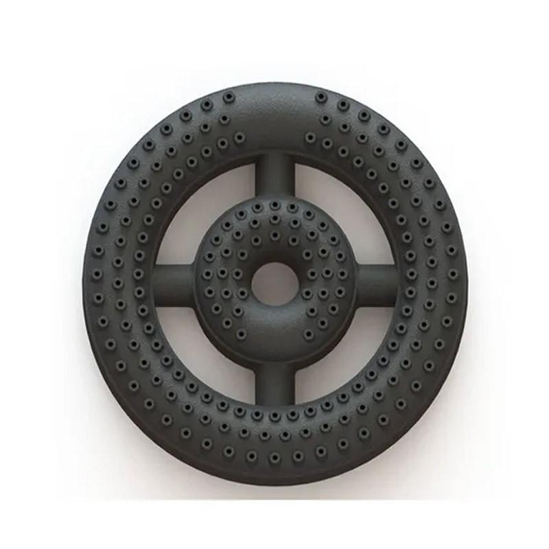 Queimador Coroa Pequeno Duplo 3/4 235mm Em Ferro Fundido