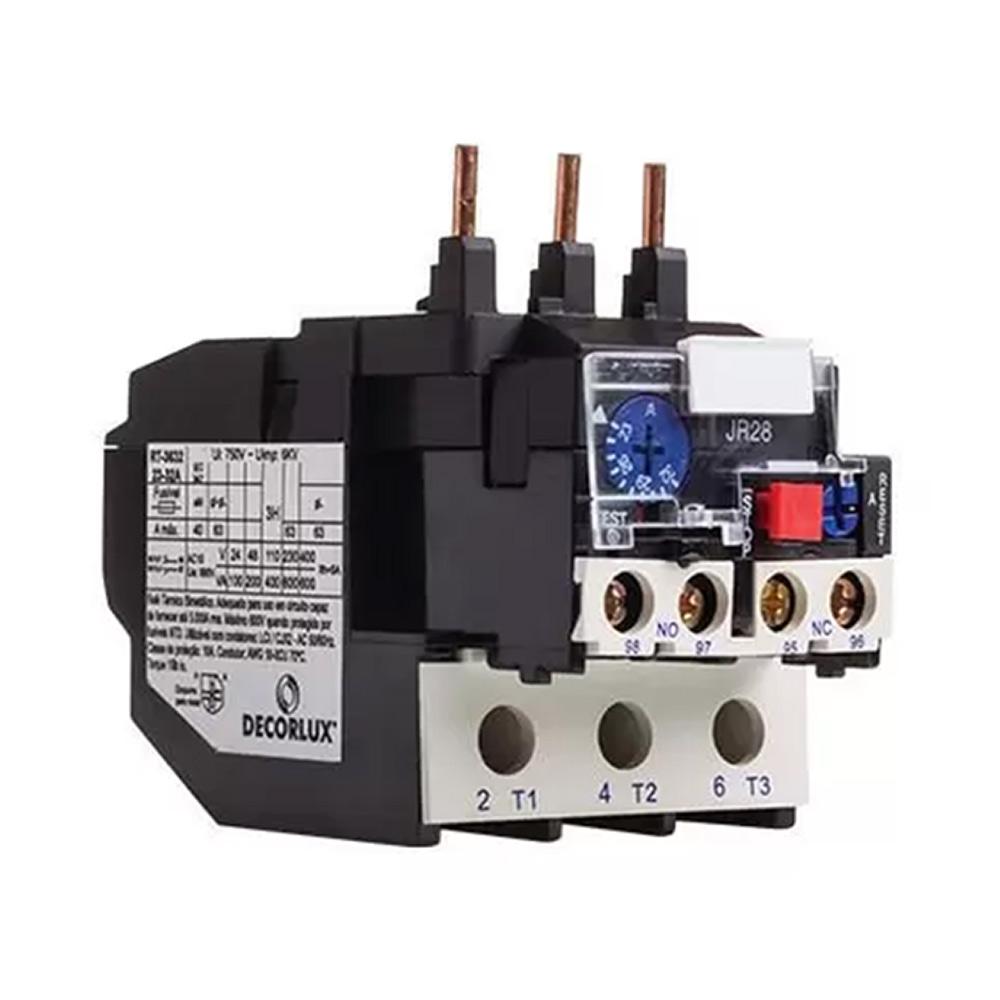 Relé Térmico Sobrecarga Bimetálico 36A Ajuste 28-36 Decorlux
