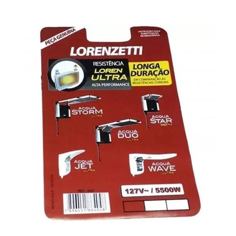 Resistência Acqua Ultra 127V 5500W Lorenzetti 3065