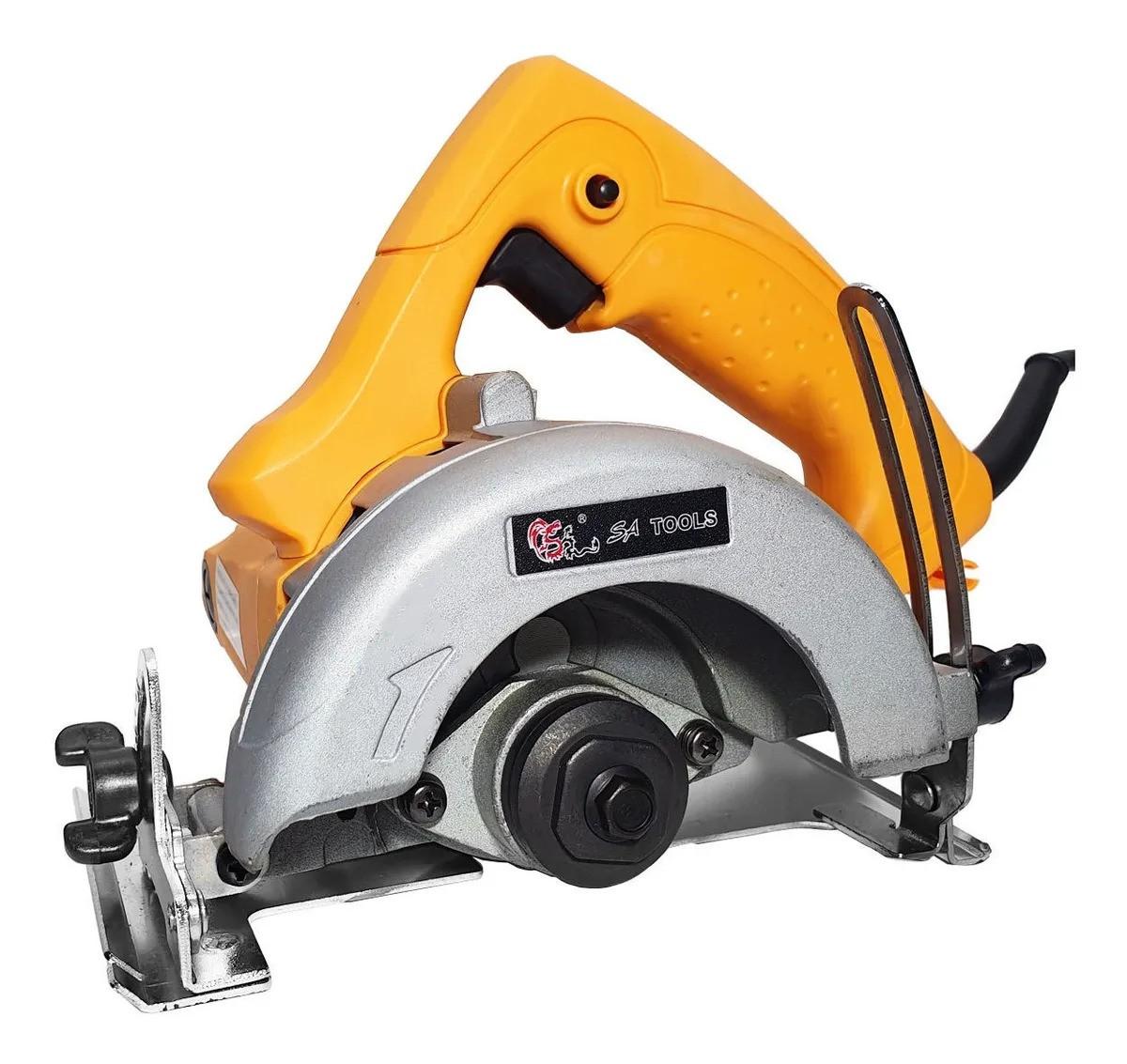 Serra Mármore 1.200w Amarela Profissional Sa4301 Sa Tools
