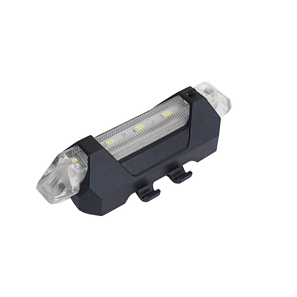 Sinalizador Lanterna LED para Bicicleta Bike Branco Charbs