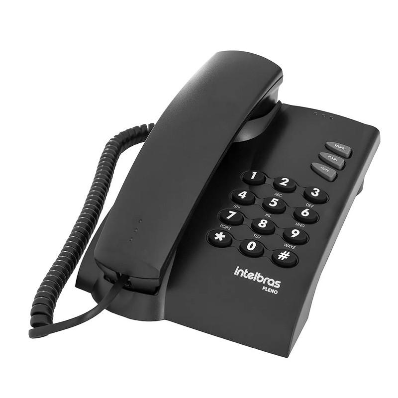 Telefone Com Fio Intelbras Pleno Preto