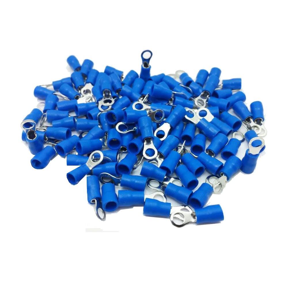Terminal Anel Fio 1,5 x 2,5mm² 27A Azul c/ 50 Peças Decorlux