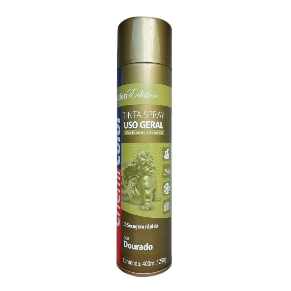 Tinta Spray para Uso Geral Dourado 400ml / 250g ChemiColor