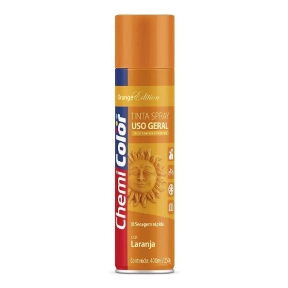 Tinta Spray para Uso Geral Laranja 400ml / 250g ChemiColor