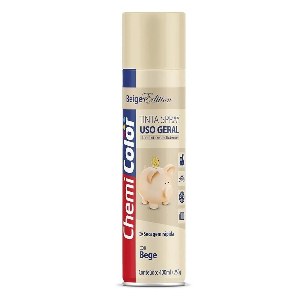 Tinta Spray Uso Geral Aplicação Bege 400ml/250g ChemiColor