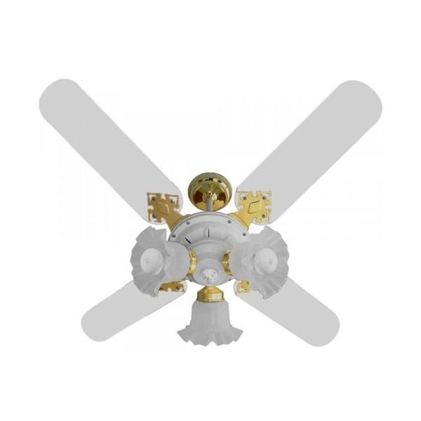 Ventilador New Zeta Branco com Dourado 34-3112 Venti - Delta